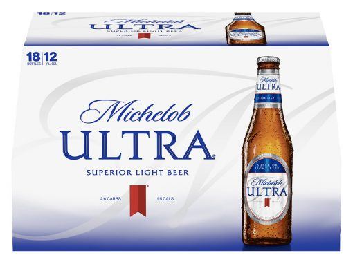 Michelob Ultra-18 Pack 12 oz Bottles -$16.99