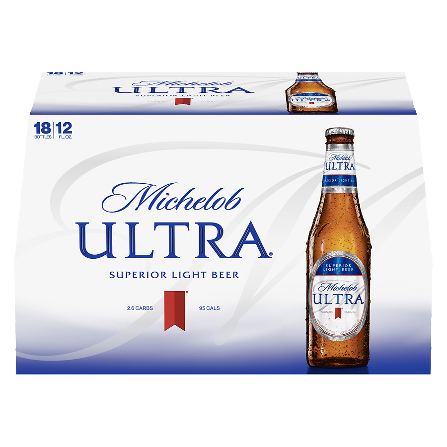 Michelob Ultra-18 Pack,12 oz Bottles or Cans-$15.99
