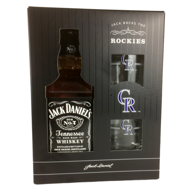 Jack Daniels Black Label Or Honey Gift Set-750ml-$21.99